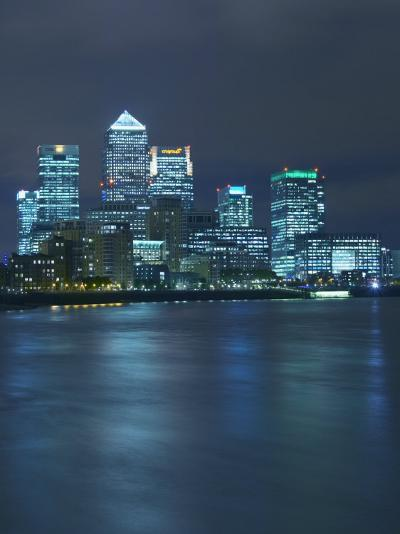 Canary Wharf, Docklands, Viewed from Wapping, London, England, United Kingdom, Europe-Wogan David-Photographic Print