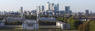 Canary Wharf from Greenwich Park, London, 2009-Peter Thompson-Giclee Print