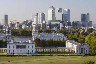 Canary Wharf from Greenwich Park, London, 2009-Peter Thompson-Photographic Print