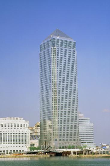 Canary Wharf Tower, Docklands, London-David Parker-Photographic Print