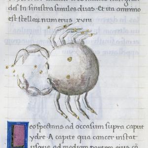 Cancer, Miniature from De Astronomia, by Hyginus, Ms, Aldini 490, F 88 V. Italy, 15th Century