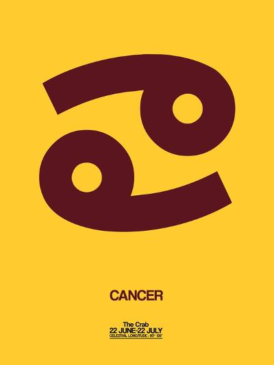 Cancer Zodiac Sign Brown-NaxArt-Art Print