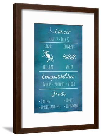 Cancer Zodiac Sign-Veruca Salt-Framed Art Print
