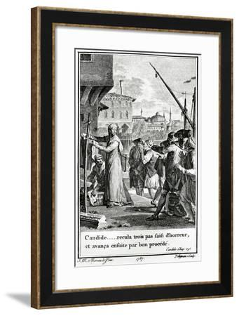 Candide or Optimism, 1759, Illustration for 1785 Edition of Philosophical Tale--Framed Giclee Print