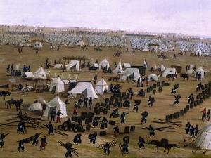 Argentine Camp During War Against Paraguay by Candido Lopez