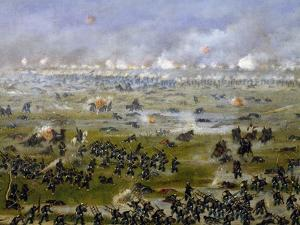 Battle of Curupayty, Argentine Troops Launching Attack on September 22, 1866 by Candido Lopez