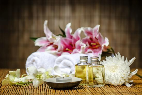 Candle and Massage Oil-psphotography-Photographic Print
