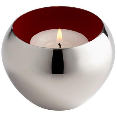 Candle Cup - Silver/Red
