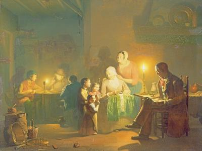 Candlelit Interior-Johannes Rosiere-Giclee Print