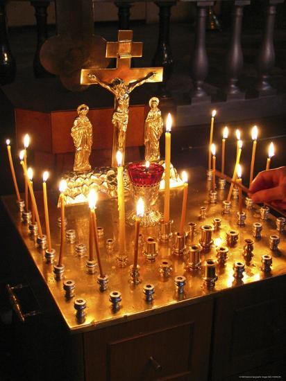 Candles are Lit at the Church of the Resurrection-Richard Nowitz-Photographic Print