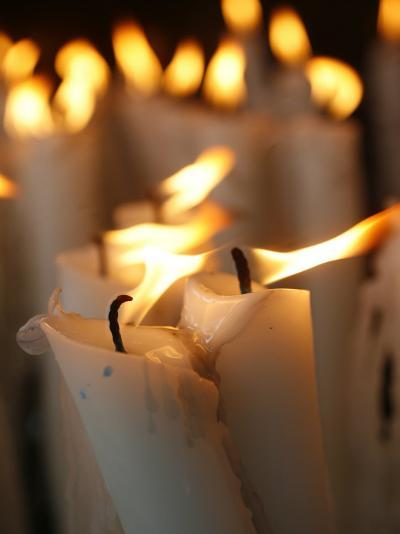 Candles at the Lourdes Shrine, Lourdes, Hautes Pyrenees, France, Europe-Godong-Photographic Print