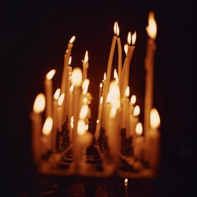 Candles, Chartres Cathedral, France, Europe-Robert Harding-Photographic Print