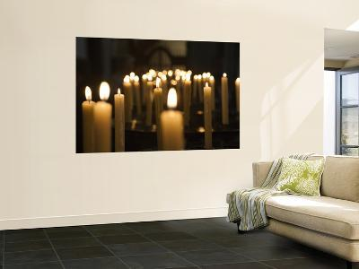 Candles Inside Cathedral Se Do Funchal-Holger Leue-Giant Art Print