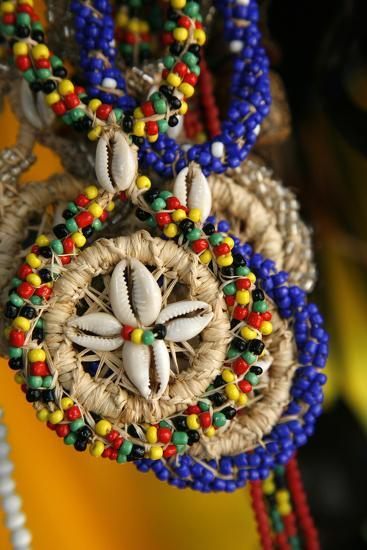 Candomble Wear Strings of Beads Made of Seeds and Shells, Cachoeira, Bahia, Brazil.-Yadid Levy-Photographic Print