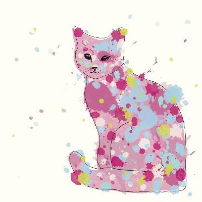 Candy Cat II-Clara Wells-Giclee Print
