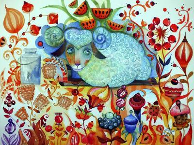 Candy Sheep-Oxana Zaika-Giclee Print