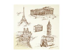 Travel Over Europe - Hand Drawn Collection by canicula