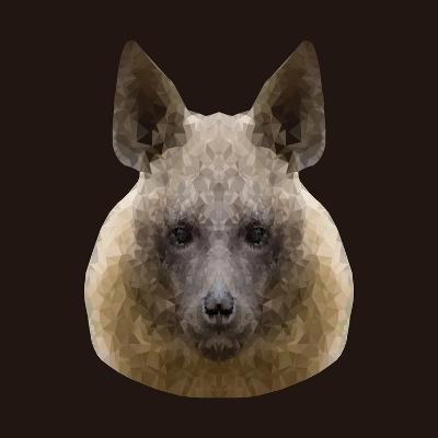 Canine Beast of Pray, Hyena, Low Poly Vector Portrait Illustration-Jan Fidler-Photographic Print