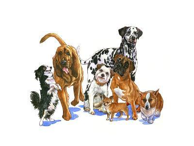 Canine Dogs-Wendy Edelson-Giclee Print