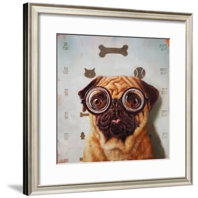 Canine Eye Exam-Lucia Heffernan-Framed Art Print