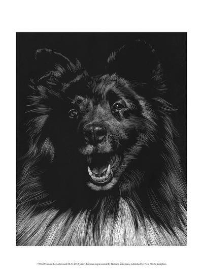 Canine Scratchboard IX-Julie Chapman-Art Print
