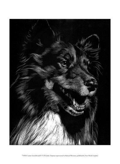 Canine Scratchboard X-Julie Chapman-Art Print