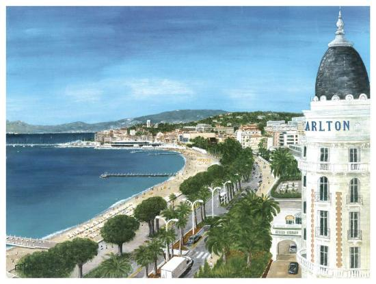 Cannes-Gerard Malon-Art Print