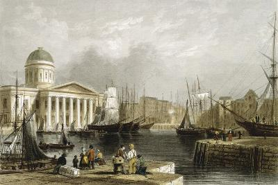 Canning Dock, Liverpool, Showing the Custom House, 1841--Giclee Print
