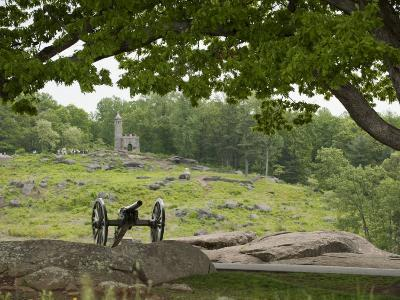 Cannon at Gettysburg Battlefield Protects Little Round Top-Greg Dale-Photographic Print