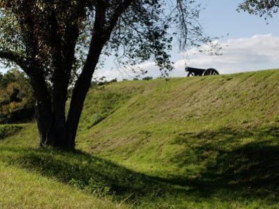 Cannon Atop a Redoubt at Yorktown Battlefield, Virginia