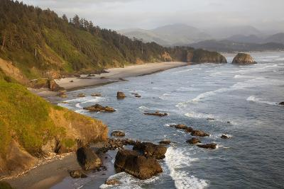 Cannon Beach and Haystack Rock, Crescent Beach, Ecola State Park, Oregon, USA-Jamie & Judy Wild-Photographic Print