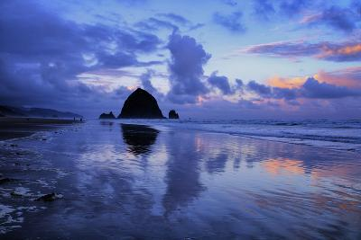 Cannon Cloudscape, Surreal Cannon Beach, Oregon Coast-Vincent James-Photographic Print