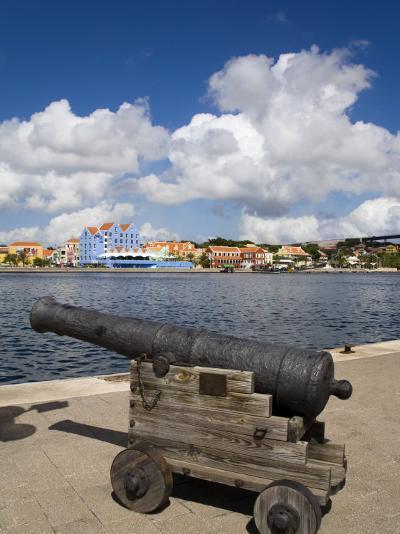 Cannon, Punda District, Willemstad, Curacao, Netherlands Antilles, West Indies, Caribbean-Richard Cummins-Photographic Print