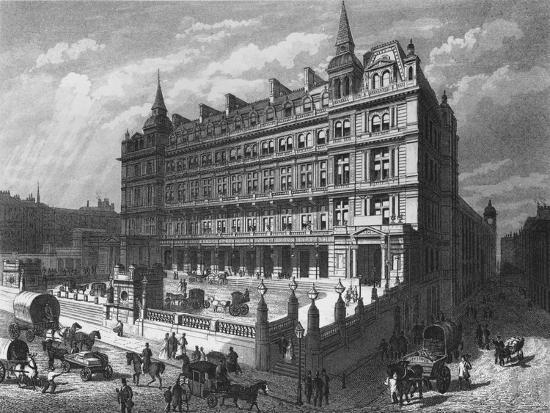 Cannon Street Railway Station, City of London, c1870 (1878)-Unknown-Giclee Print