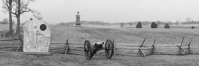 Cannons and Fence at Gettysburg Battlefield-Greg-Photographic Print