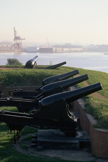 Cannons at Fort Mchenry-Paul Souders-Photographic Print