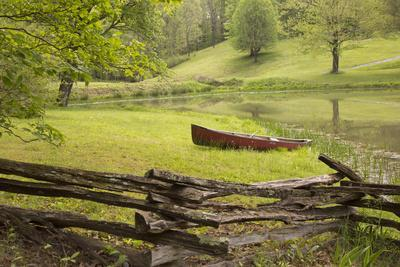 Canoe U0026 Fence Photographic Print By Monte Nagler | Art.com