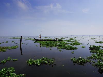 Canoe on Kerala's Backwaters-Felix Hug-Photographic Print