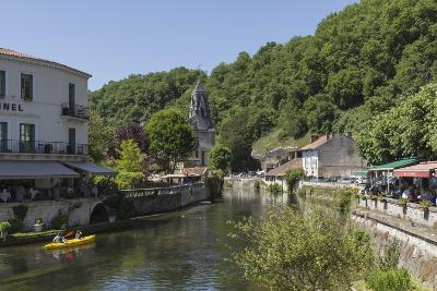 Canoe on River Dronne, Brantome, Dordogne, Aquitaine, France, Europe-Jean Brooks-Photographic Print