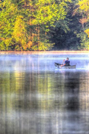 Canoe on the Lake Vertical-Robert Goldwitz-Premium Giclee Print