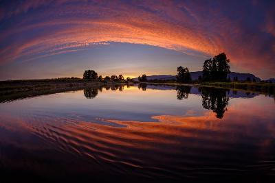 Canoe Sunset-Vladimir Kostka-Photographic Print