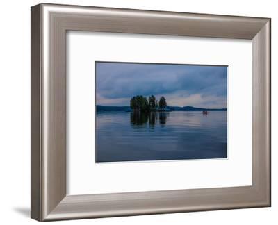 Canoe tour at dusk, Lelang Lake, Götaland, Sweden-Andrea Lang-Framed Photographic Print
