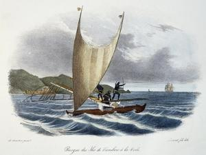 Canoe with Sail from the Vanikoro Islands