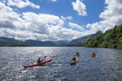 Canoes on Derwentwater, View Towards Borrowdale Valley, Keswick-James Emmerson-Photographic Print