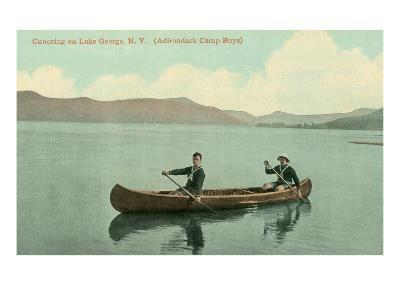 Canoing on Lake George, New York State--Art Print