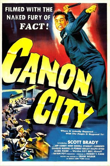 CANON CITY, US poster, Scott Brady, 1948--Art Print