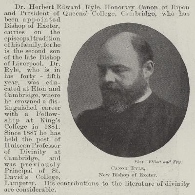 Canon Ryle, New Bishop of Exeter--Giclee Print