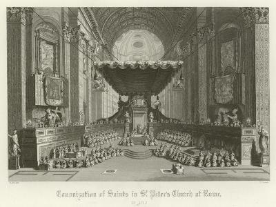 Canonisation of Saints in St Peter's Church, Rome, 1712--Giclee Print