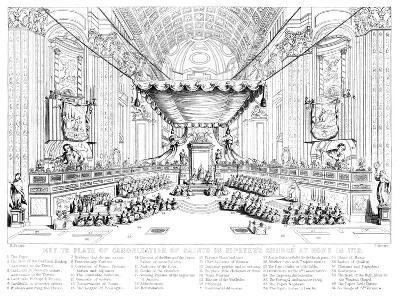 Canonisation of Saints in St Peter's Church, Rome, 1712-T Brown-Giclee Print