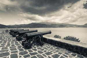 Canons at Fort Shirley, Cabrits National Park, Portsmouth Dominica, Dominica